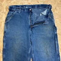 Carhartt Vintage Carpenter Mid Blue Denim Jeans Dungaree Fit Mens Size W36 L30