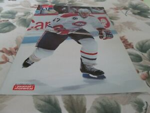 STEPHANE LEBEAU  MONTREAL CANADIENS     POSTER COLOR 16  BY 11  1991-1992