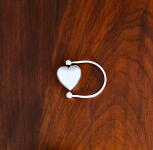 BEAUTIFUL STERLING SILVER BABY RATTLE SPINNING HEART NO MONOGRAMS