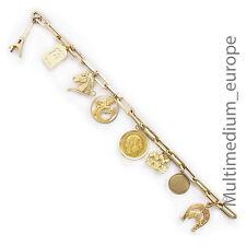 Charms Bettel Armband 333 585 750 999 Gold Anhänger bracelet pendant 8 14 18 kt