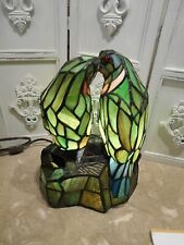 """Beautiful Stained Glass Love Birds Lamp 12"""" Tall"""