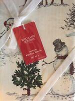 WILLIAMS SONOMA Snowman Set of 2 Kitchen Towels NIB