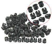 100 Pieces LED Mount Clip Holder Display Panel Cases Black Plastic 5mm