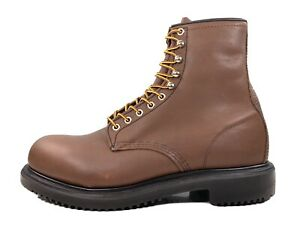 """Red Wing Supersole 8"""" Steel Safety Toe Boot Brown Oil Resistant 2233 Size 9.5 E3"""