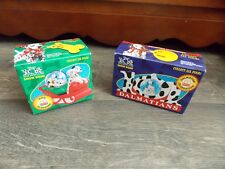 Disney Dalmatians Snow Domes Dog Sledding & Dalmation Celebration Nib McDonalds