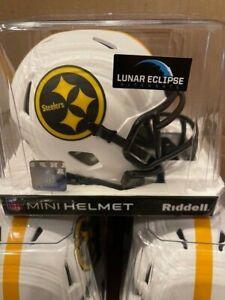 PITTSBURGH STEELERS Riddell SPEED Mini Football Helmet LUNAR ECLIPSE IN STOCK