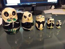 Panda Nesting Doll Set Matryoshka by Authentic Models Holland 5 piece