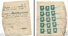RICEVUTA OFFERTA LIRE 2000 CUCINA POPOLO 1944 RETRO 15 MARCHE DA BOLLO CENT 10