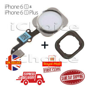NEW iPhone 6S & 6S Plus  Home Button Flex Cable Replacement White / Silver