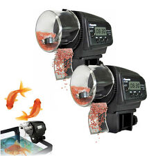 2 PCS Digital LCD Automatic Auto Aquarium Tank Fish Food Feeder Timer Feeding