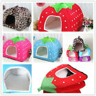 Cozy Warm Doggy Puppy Strawberry Kennel Cushion Pad Pet Dog Cat Soft Bed House
