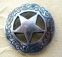 SET á 4 Conchos Texas Star Nieten Pferde Biker Indianer Western z.Schrauben 29mm