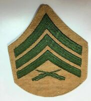 Khaki on Blue AG656 Pair US WW2 Style Technical Sergeant Rank Stripes