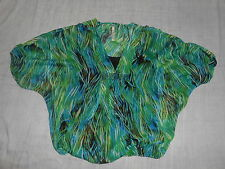 Women's Lea & Nicole Green Black Polyester DUO Top Size PS