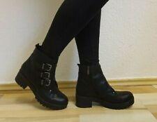 Damen -Stiefel, Stiefeletten, Boots, echtes Leder, EU 36, Schwarz, Neu/New