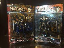 Warlands Prince Aalok & King Malagen Action Figure Lot 2000 D-Boy Inc. Vampire