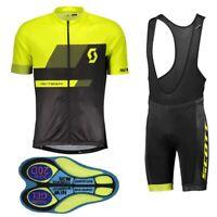 Men's Cycling Jersey Set MTB Bike Short Sleeve Shirt 20D Gel Short set
