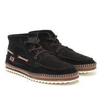Lacoste Sauville Mid SRM Black Suede Boots Mens Size UK 11
