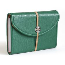 Green Faux Leather Coupon Organizer Holder (30603 Black)