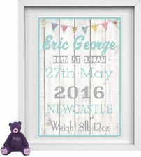 Personalised baby boy gift ebay baby boys name personalised picture new baby gift free post negle Images