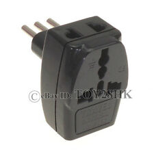 1* Universal to Italian Type L 3 Pin Electrical Plug Adapter 3 Way Multi Outlet