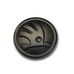 Skoda emblem black badge 80mm VRS Fabia octavia