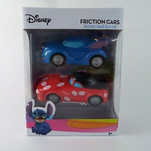 Disney Lilo & Stitch Friction Cars Toys Two Cars with Action & Speed New In Box