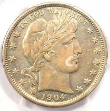 1904 Barber Half Dollar 50C - PCGS AU Details - Rare Date - Certified Coin!