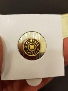 ROMANIA 100 Lei 2003 PROOF Gold COIN Romanian Rumänien UNC Apahida Eagle BNR NBR