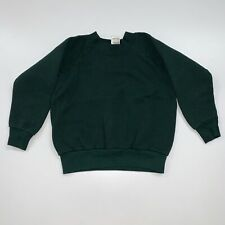 Vintage 90s Kids Blank Crewneck Sweatshirt Size Youth Small Green