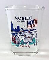MOBILE ALABAMA GREAT AMERICAN CITIES COLLECTION SHOT GLASS SHOTGLASS