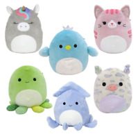 Squishmallows Squid, Chick, Cat, Pig, Octopus Wave 5 18cm Choice of Characters