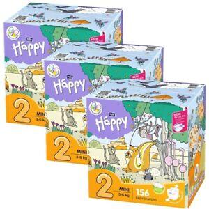 Windeln bella baby Happy Box Gr.2 Mini 3-6kg Sparpack 156 - 468 Stück