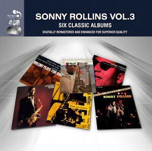 Sonny Rollins – Vol.3. Six Classic Albums 4CD Real Gone 2014 NEW/SEALED