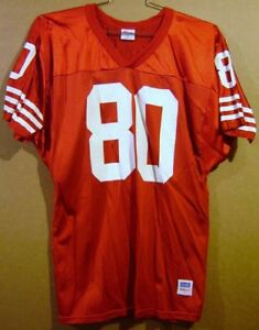 SAN FRANCISCO 49ERS JERRY RICE #80 RED MESH WILSON SIZE LARGE NFL JERSEY