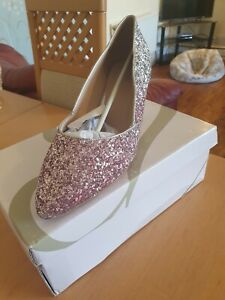 Glittery Evans Shoes Size 10 EEE