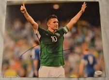 Robbie Keane Signed 11x14 w JSA COA # K05292 Ireland LA Galaxy Tottenham Hotspur