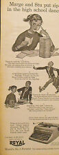 1953 Royal PortableTypewriters Home,Office,Business High School Dance Print AD
