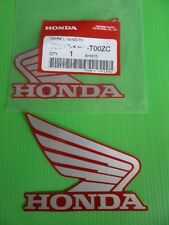 HONDA CBR WING TANK DECALS x 2 SILVER / RED