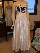 Gently Worn TD4 by Electra White Heavy Satin Gown 13/14