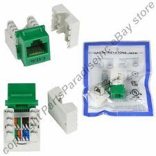 Lot50 Cat5e RJ45 Keystone Network/Ethernet 10/100/1000 Jack/Port 110Punch{GREEN