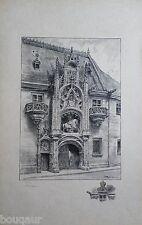 Albert ROBIDA Palais Ducal de NANCY Grande Lithographie originale Signée 32/125