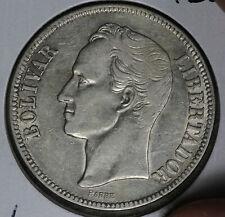 NIce 1926 Venezuela 5 Bolivares Silver Coin!