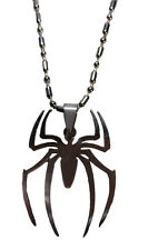 "Marvel's Spider-Man ""Spider"" Stainless Steel Pendant Necklace"