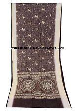 Indian Saree 100% Pure Chiffon Silk Hand Beaded Fabric Sequins Sari Hand Crafts