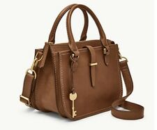 NWT Fossil Ryder Mini Leather Satchel Whiskey Brown