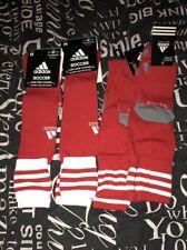 4 Adidas Copa Zone Cushion Soccer Sock-SZ Medium Men White Red