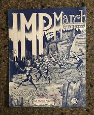 Vintage 1912 IMP MARCH sheet music Devil~Satan~Hell~Bats~Pitchfork~Halloween