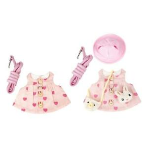 Rabbit Harness and Leash/Hat Set Escape Proof Cute Dress for Small Pet Animal