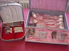 WMF Rom 90 argento placcato 6 Persone Posate+Posate da dessert+Tappeto 55 pezzi